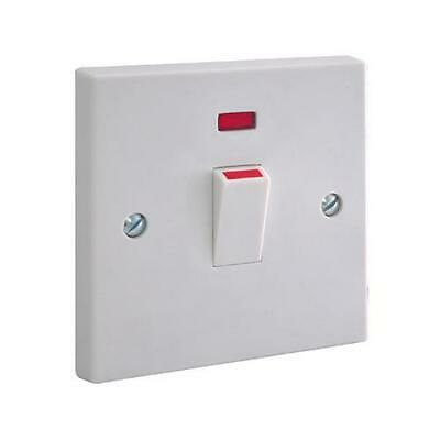 £6.99 • Buy Water Heater Switch Immersion 20A Double Pole With Neon Indicator Light