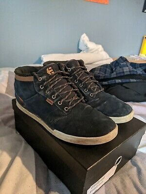 £18 • Buy Etnies Jefferson Mid Mens Size 12 Shoes Trainers Sneakers Hi-Top Navy Gum White