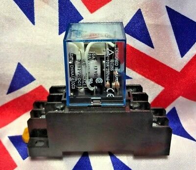 £4.89 • Buy 12V DC 8 Pin Relay And Socket Base Included , 10A DPDT LY2NJ HH62P-L JQX-13F