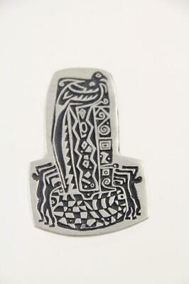 $18.95 • Buy 2000 Alice Seely Animal Fetishes Pewter Native Tribal Art Petroglyph Pin Brooch