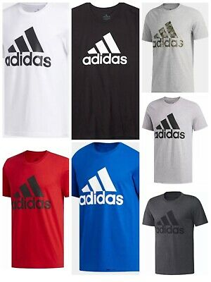 $18.95 • Buy Adidas Badge Of Sport Tee Mens Small To 2XL Authentic Short Sleeve T Shirts