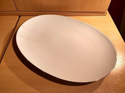£16 • Buy Thomas Thin Gold Band OVAL SERVING PLATE (large)