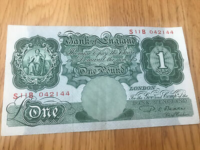 Bank Of England Old One Pound Beale Bank Note  S11B   042144  IN GOOD CONDITION • 2.23£