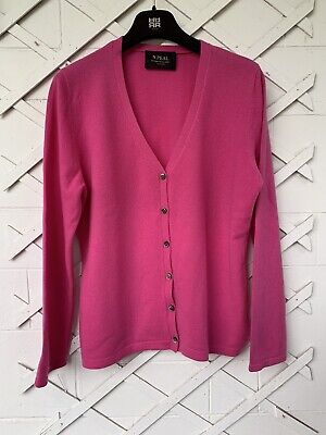 Pink N. Peal Cashmere Cardigan Size 14 • 75£