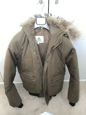 $180.67 • Buy Pyrenex Green Bomber With Fur Size Large