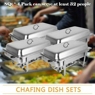 £69.99 • Buy 9L/8Q 4pcs Chafer Chafing Dish Sets Pans Stainless Steel Catering Food Warmer