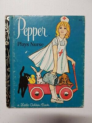 £4 • Buy Little Golden Book - Pepper Plays Nurse 1972 HC