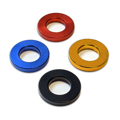 £4.80 • Buy M8 X 16mm Flat Washer / Spacer - Anodised Aluminium, Metal - Various Colours