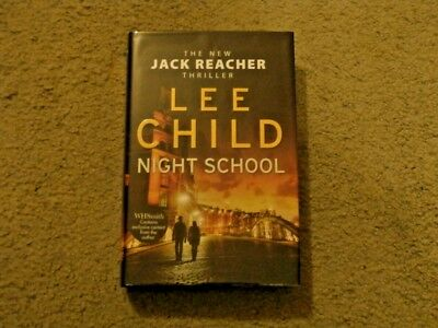Lee Child: Night School: Vf/vf Signed Uk 1st Edition 'exclusive' Hardcover 1/1 • 20£