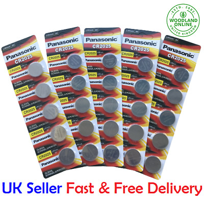 £3.49 • Buy Panasonic CR2025 3V Battery Lithium Coin Cell Car Key Fobs Toys Remote 2025 UK