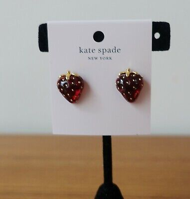 $ CDN55.63 • Buy Kate Spade New York Tutti Fruity Strawberry Studs Earrings In Red/gold