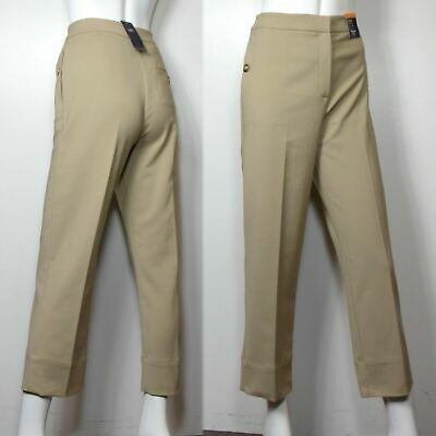 £13.99 • Buy M&S High Rise 7/8th LENGTH Straight Leg TROUSERS ~ Size 10 Regular ~ COFFEE