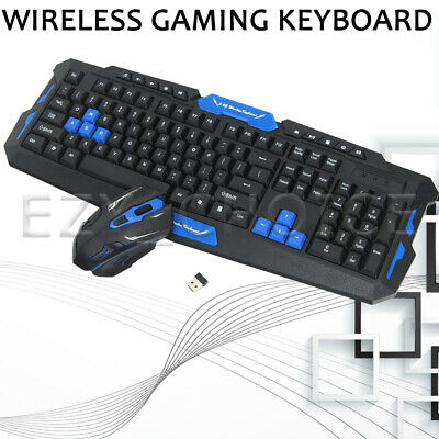 AU27.89 • Buy Wireless Gaming Keyboard And Mouse Set Computer PC Multimedia Gamer Bundle 2.4G