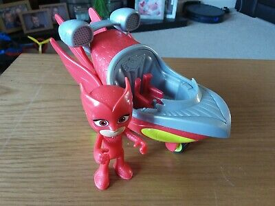 PJ Masks Owlette Vehicle And Figure, Used, Children's Toy • 1.50£