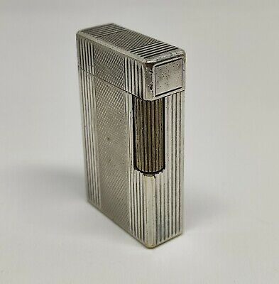 AU340.83 • Buy Vintage St Dupont Silver Plated Petrol Lighter From 1952