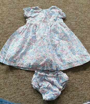 AU2.34 • Buy John Lewis Ditsy Floral And Bird Dress And Knickers Age 3-6 Months
