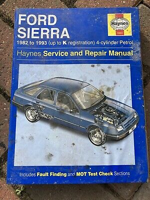 Haynes Service And Repair Manual Ford Sierra 1982 To 1993 (up To K Reg) Petrol • 2£