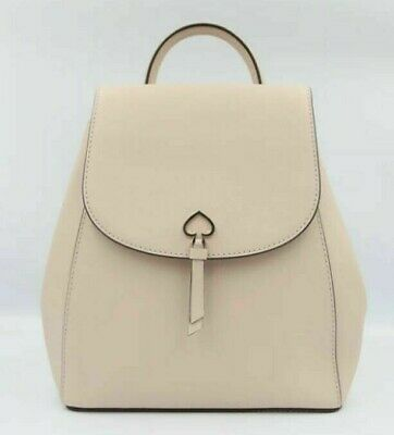 $ CDN147.88 • Buy New Kate Spade New York Adel Medium Flap Backpack Leather Warm Beige