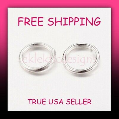 $1.99 • Buy 50pcs 6mm .7mm/21gauge Silver Plated Iron Based Alloy Open Jump Rings FREE SHIP