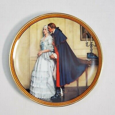 $ CDN30.96 • Buy Norman Rockwell Colonials Bradex Edwin Knowles 1986 Unexpected Proposal Plate