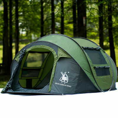 AU139.99 • Buy 3-4 Person Instant Up Camping Tent Pop Up Tents Family Outdoor Hiking Dome AU
