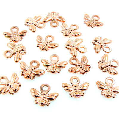 £2.25 • Buy Rose Gold Bumble Bee Honey Bee Charms Pendants - Rose / Antique / Gold / Silver