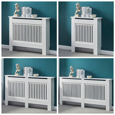 £34.99 • Buy White Wood Radiator Cover MDF Grill Shelf Cabinet Modern Traditional Furniture