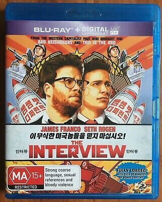 AU7.50 • Buy THE INTERVIEW - James Franco, Seth Rogen - Blu-Ray, 2014, Rated MA 15+