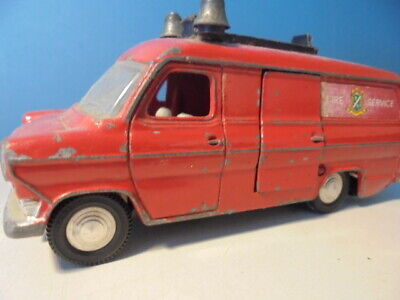 DINKY TOYS FORD TRANSIT VAN Fire, 286, C1968 • 11.51£