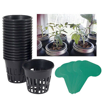 $ CDN13.66 • Buy 12x 3  Garden Slotted Mesh Net Cups With 10pcs Plant Labels For Hydroponics