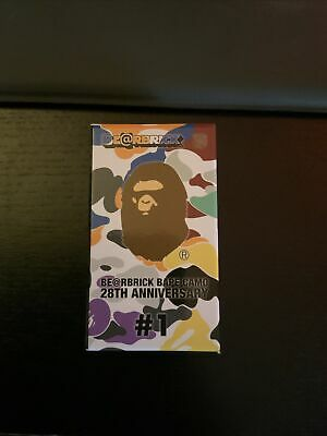 $50 • Buy Bape Camo Bearbrick 28th Anniversary 100% #1 Blind Box Sealed Single Random