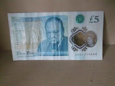 5 Pound Note   AA01 01 Circulated • 12£