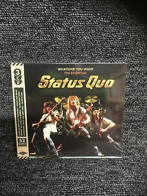 £4.15 • Buy STATUS QUO - Whatever You Want The Essential Collection (3 CD Album) NEW SEALED