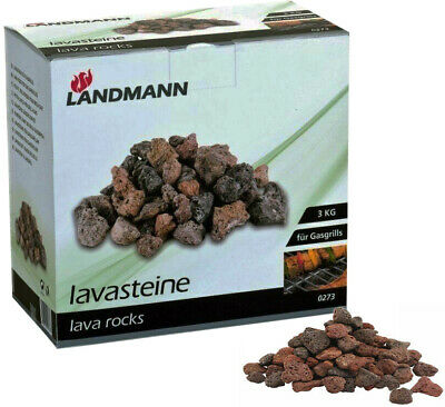 £9.95 • Buy 3Kg Landmann Lava Rocks Gas Barbecues Replacement BBQ Camping