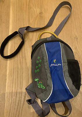 Little Life Child Backpack With Detachable Reins Great Condition Dinosaur Motif • 5.75£
