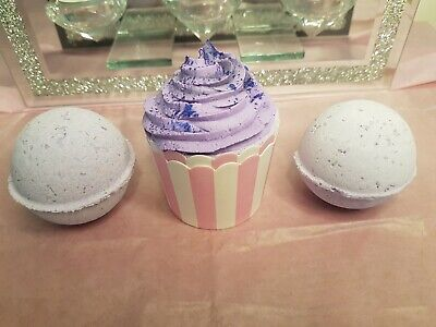 £6.99 • Buy Bath Bomb Gift Set Lush Scented Parma Violet Cup Cake Foaming Fizzy Bath Set