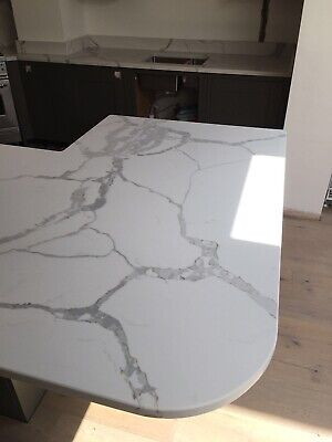 £0.99 • Buy Calacatta White  Quartz Kitchen Worktop   All Colours Available   Affordabl