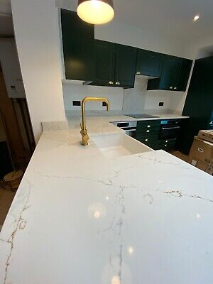 £0.99 • Buy Calacatta Gold Quartz Kitchen Worktop   All Colours Available   Affordable