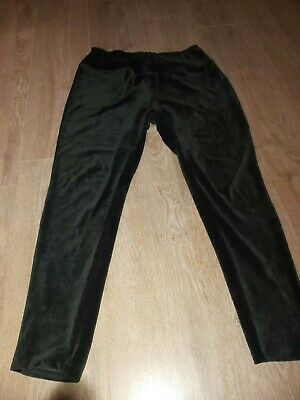 George Velvet Feel Black Leggings Size 16-18 • 0.99£