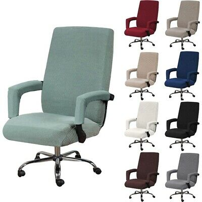 AU26.79 • Buy Swivel Chair Cover Home Study Armchair Slipcover Seat Covers Office Study Room
