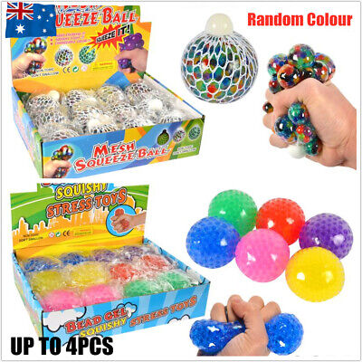 AU9.50 • Buy Anti-Stress Squishy Mesh Ball Grape Squeeze Sensory Fidget Toy Stress Relief 6CM