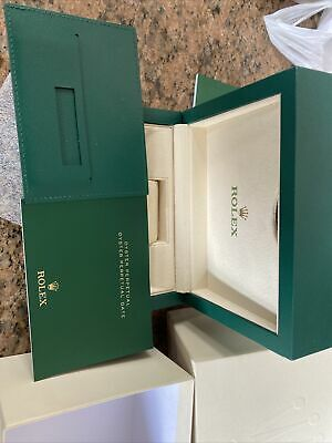 $ CDN339.08 • Buy Rolex Genuine Wave Box Circa 2014 On With Guarantee And Manual Full Set