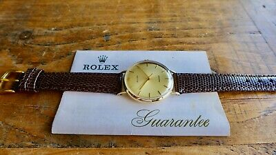 $ CDN1646.03 • Buy A STUNNING GENTS VINTAGE 1970s 9CT GOLD ROLEX PRECISION WRISTWATCH ORG GUARANTEE