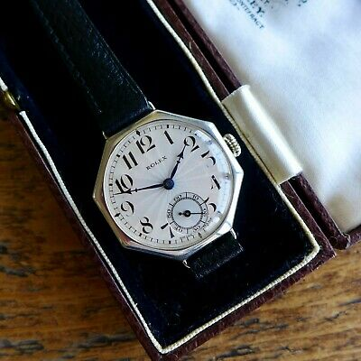 $ CDN1585.71 • Buy A STUNNING FULL SIZE GENTS VINTAGE 1920s MILITARY ROLEX TRENCH WATCH IN SILVER