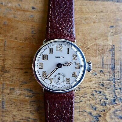 $ CDN913.51 • Buy A STUNNING GENTS VINTAGE 1920s MILITARY ROLEX TRENCH WRISTWATCH IN SILVER