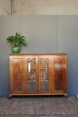 AU970 • Buy Enclosed Victorian Bookcase/cabinet.