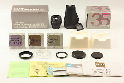$ CDN2124.65 • Buy 【UNUSED SET】  Contax Carl Zeiss Planar T* 35mm F/2 BLACK Lens G1 G2 From Japan
