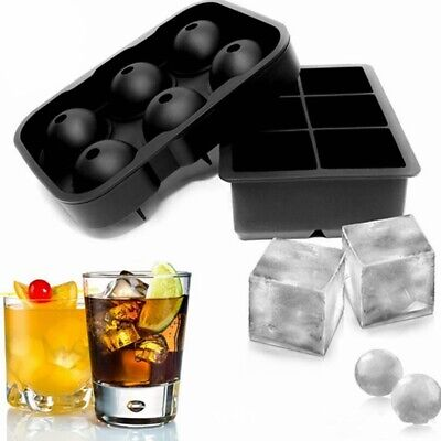 £7.48 • Buy 1PC Silicone Ice Cube Large Jumbo DIY Mould Sphere Ball Maker Mold Square Tray