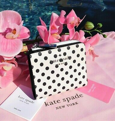 $ CDN62.88 • Buy 🌸 NWT Kate Spade Staci Picture Dot Small L-zip Bifold Leather Wallet New $119