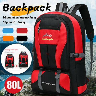 AU19.89 • Buy 80L Outdoor Travel Backpack Sports Bag Waterproof Hiking Luggage Rucksack Bag UU